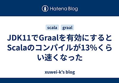 JDK11でGraalを有効にするとScalaのコンパイルが13%くらい速くなった - xuwei-k's blog
