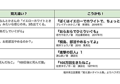 「あだしはあだしでいぐがら」の正しいタイトルは? 福井県立図書館の「覚え違いタイトル集」が話題で書籍化へ。 | ハフポスト