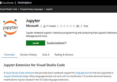 マイクロソフト、Visual Studio Codeに「Jupyter」拡張機能を追加 Python以外でも導入可能に | Ledge.ai