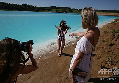 地元の「モルディブ」、人気のインスタ映え湖 青緑色の正体は発電所廃棄物 写真13枚 国際ニュース:AFPBB News