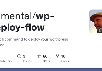 GitHub - demental/wp-deploy-flow: A wp-cli command to deploy your wordpress instance.