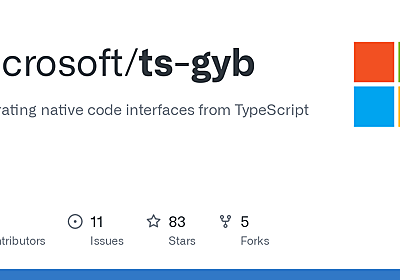 GitHub - microsoft/ts-gyb: Generating native code interfaces from TypeScript