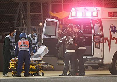 炎上車両から脱出したグロージャンが笑顔でメッセージ「ヘイローに救われた」。やけどのみで骨折等はなし:F1バーレーンGP   F1   autosport web