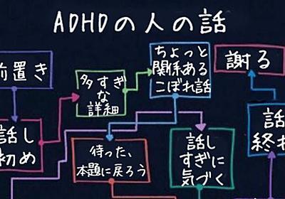 ADHDの人の話のフローチャートに「分かりやすい」「思い当たる」の声 - Togetter