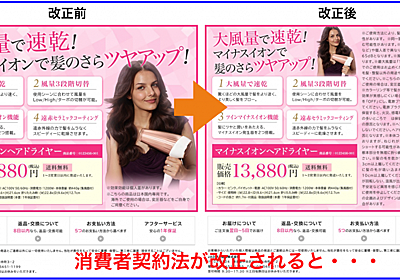 消費者契約法見直し改正とネット広告に関するニュースまとめ   ネットビジネス・アナリスト横田秀珠