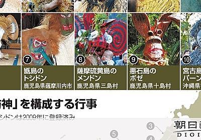 ナマハゲ・アマメハギ…「来訪神」無形文化遺産に決定:朝日新聞デジタル