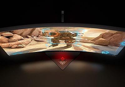 ガメチンブログ- blo: HPは35インチ、100Hz、G-Sync、曲面モニター、Omen X 35 を発表~