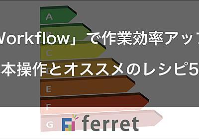 「Workflow」で作業効率アップ!基本操作とオススメのレシピ5選|ferret [フェレット]