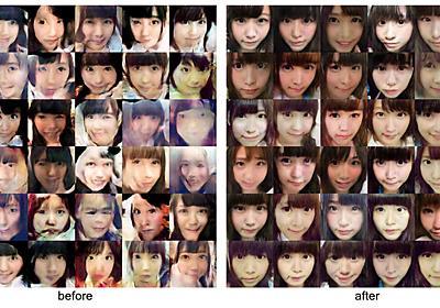 TensorFlowによるDCGANでアイドルの顔画像生成 その後の実験など - すぎゃーんメモ
