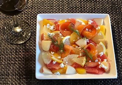 スモークサーモンとフルーツたちのコラボ「ARAMA!綺麗なサラダ」 - らしくないblog