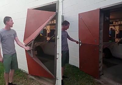 独創性すごいけど機能性はわからん。折り紙のように開くドア : カラパイア