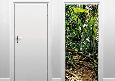 ドアにはって夢のある空間を演出する超絶リアルなステッカー - GIGAZINE