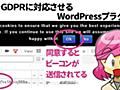 GoogleアナリティクスをGDPR対応させるWordPressプラグイン