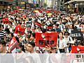 香港で反政府デモ、100万人規模か「雨傘革命のよう」:朝日新聞デジタル
