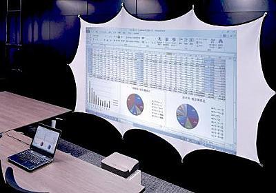 伸縮して洗える初のスクリーン「フレピタ」。磁石で設置、アスペクト調整も - AV Watch