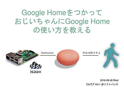 Google Home をつかって おじいちゃんにGoogle Home の使い方を教える