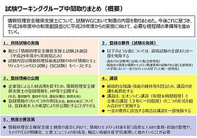 ニュース - 情報セキュリティスペシャリスト合格者は「情報処理安全確保支援士」試験免除へ:ITpro