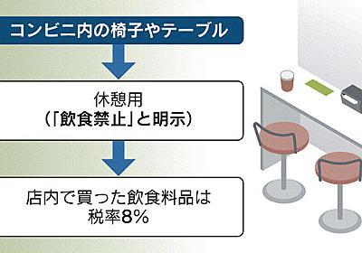 コンビニ食品に軽減税率 店内での飲食禁止が条件: 日本経済新聞