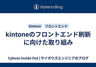 kintoneのフロントエンド刷新に向けた取り組み - Cybozu Inside Out | サイボウズエンジニアのブログ