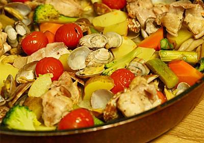【調味料4つ】「鶏肉とアサリの白ワイン蒸し」作り方・レシピ - シェフガッキーの料理ブログ!