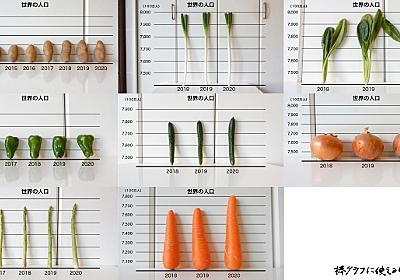 棒グラフに使える野菜調べ :: デイリーポータルZ