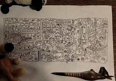 """志ん魚 on Twitter: """"娘(小3)の絵。 A4コピー用紙にボールペン。この能力をどの方向に延ばしてやればいいのか。。。 http://t.co/UzxIA7LW"""""""