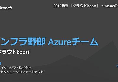 インフラ野郎 Azureチーム at クラウド boost