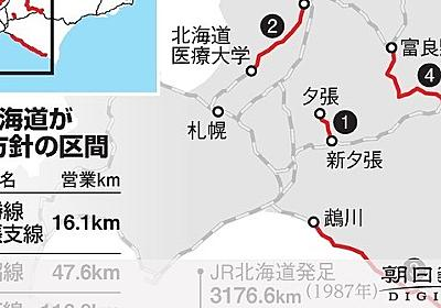 経営難のJR北、赤字5路線5区間廃止へ 国・道は容認:朝日新聞デジタル