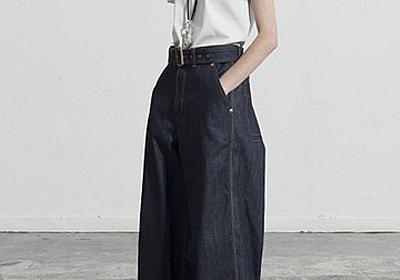 ザ・リラクス(THE RERACS) 定番人気のベルト付きワイドデニム / ELLE SHOP | fashionbookmark.jp