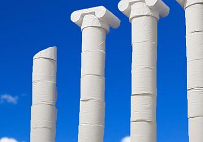 トイレが神殿に……? トイレットペーパーを「古代ローマの柱」風に保管できるグッズがロマンあふれる - ねとらぼ