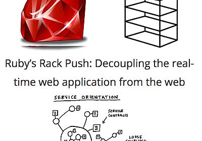 Ruby: Rack PushでリアルタイムWebアプリをWebから切り離す(翻訳)
