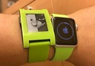 Apple Watch雑感、Pebbleとの比較 - いぬビーム