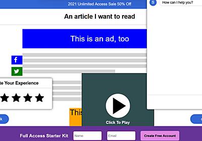 無駄満載な現代のインターネットを最高に皮肉ったウェブサイト「How I Experience Web Today」