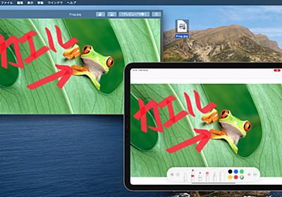 macOS 10.15 CatalinaではContinuity機能が強化され、iPadで書いた署名や描いたものをリアルタイムでMacアプリに反映させることが可能に。 | AAPL Ch.