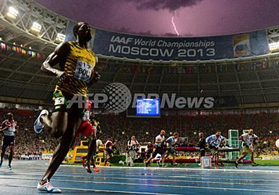 ボルトと稲妻の奇跡の一枚、AFPカメラマンが激写 写真1枚 国際ニュース:AFPBB News