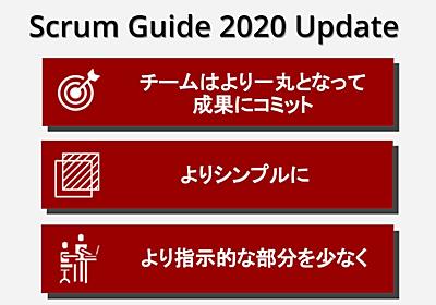 Scrum Inc. Japan #TeamworkMakesTheDreamWork | スクラムガイド2020のアップデートについて