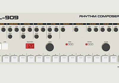 ローランド TR-909の機能とサウンドをWebブラウザ上に再現する「HTML-909」が公開 - ICON