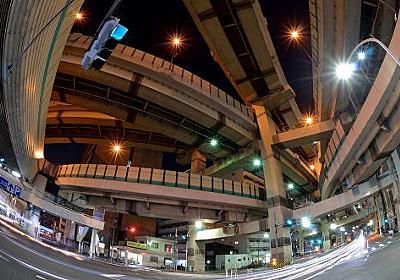 【画像】首都高速道路「箱崎ジャンクション」は複雑な構造すぎて「ヤマタノオロチ」とも呼ばれている:バイク速報