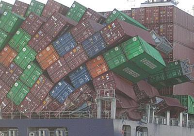 世の中には『荷崩れしたコンテナ船の写真』マニアがいるらしい…しかしその筋の人には全く笑えない写真だった「運送会社にとってはマジモンのグロ画像」 - Togetter