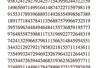 やたらすごい素数 - インテジャーズ