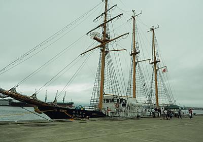帆船「みらいへ」を見て来る… - 好いた事はせぬが損…