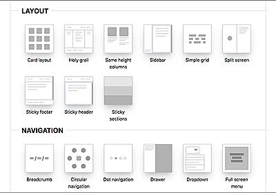 よく使用されるWebページのレイアウトやUI要素91種類をシンプルなCSSで実装するコードのまとめ -CSS Layout | コリス