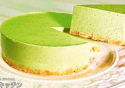 【カロリーオフ】めっちゃ簡単!『豆腐の抹茶レアチーズ風ケーキ』の作り方 - てぬキッチン