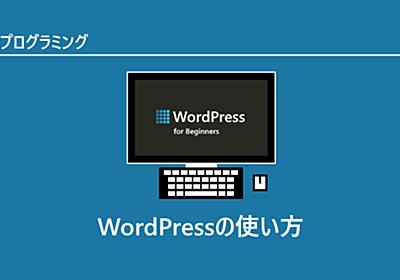 WordPressの使い方 ~インストールから基本的な使い方まで~   Let'sプログラミング