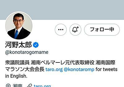 河野大臣のツイッターブロックの問題点、若手憲法学者が読み解く:朝日新聞デジタル