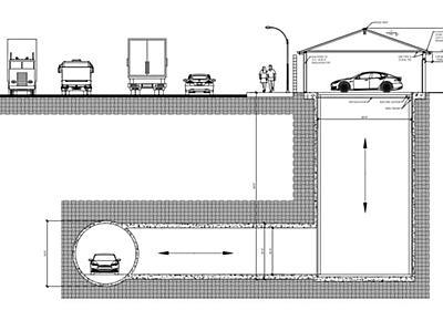 車ごと地下トンネルにアクセスする一戸建てガレージ、イーロン・マスクのトンネル企業が設置テストへ - Engadget 日本版