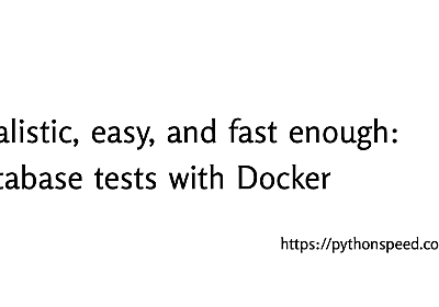 Farewell to fsync(): 10× faster database tests with Docker
