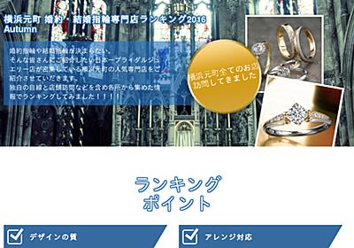 横浜元町商店街 結婚指輪ランキング 2018
