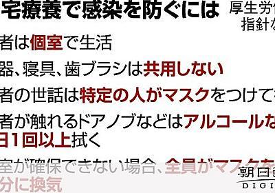 軽症者、自宅療養と言われても… 不安が尽きない単身者 [新型肺炎・コロナウイルス]:朝日新聞デジタル