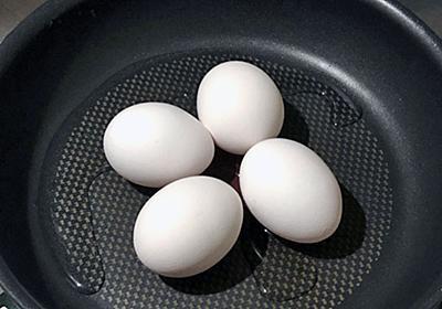「フライパンでゆで卵を作る方法」がわずかな水でOKの時短ワザだった - mitok(ミトク)